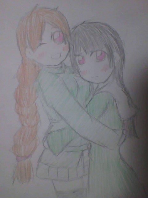 可愛いだなんて(*´皿`*)>テヘヘ鈴忌ちゃんも元気いっぱいできゃわいい!!こっちも描いたのじゃ☆相変わらずのアナログ