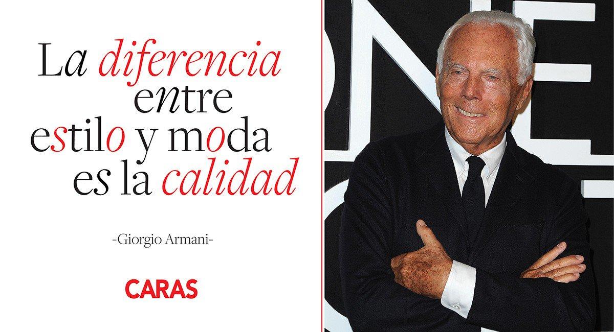 Happy bday Giorgio Armani! El diseñador llega a los 83 años de vida