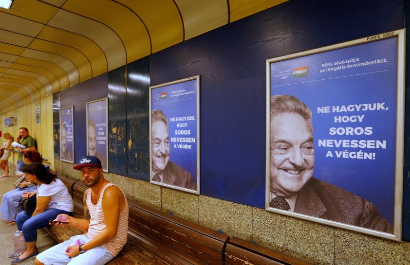 Hungary's anti-Soros posters recall 'Europe's darkest hours': Soros' spokesman