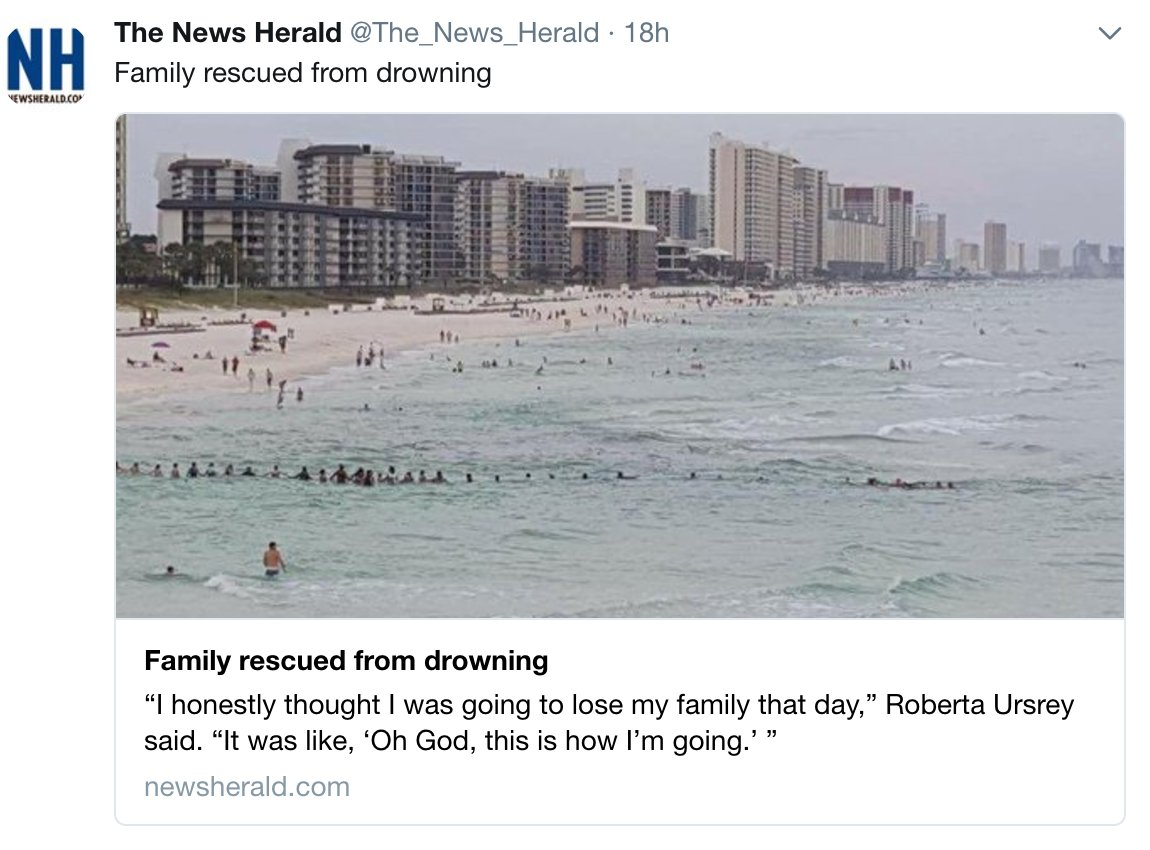 A riptide swept away a Florida family. Then beachgoers formed a human chain.