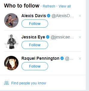 Not sure what I did to warrant Twitter's algorithm to think I need to follow a series of female UFC fighters but OK https://t.co/UdrTTaAgze