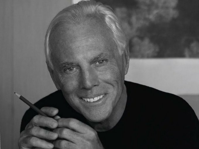 Ambassador of Italian elegance worldwide. Happy birthday Giorgio Armani