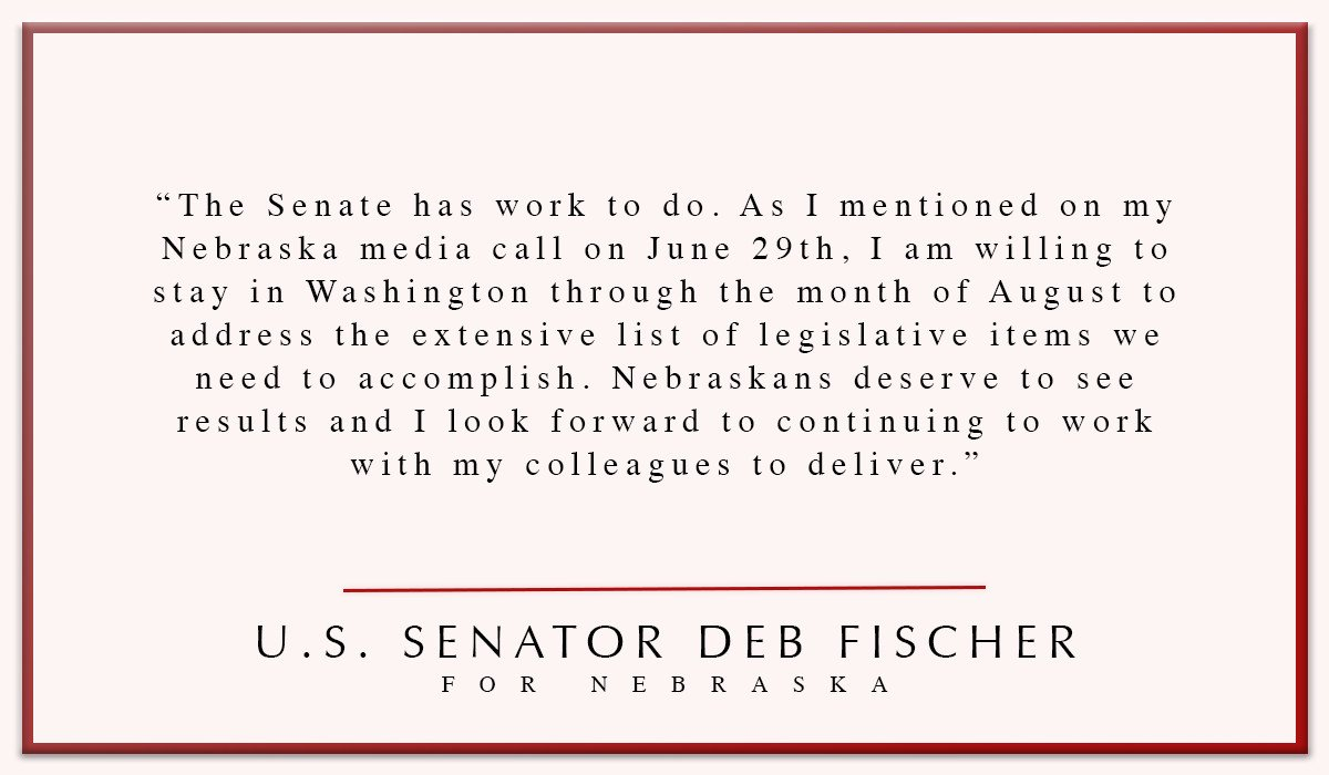My Statement On August In The Senate: