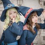 Akko and Diana Cosplay of Little Witch Academia.Akko C//N: 纱
