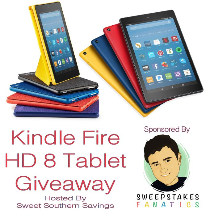 Kindle Fire HD 8 Tablet with Alexa Giveaway Ends 8/6