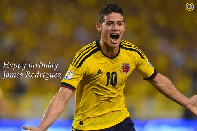 Happy birthday to James Rodriguez!!!