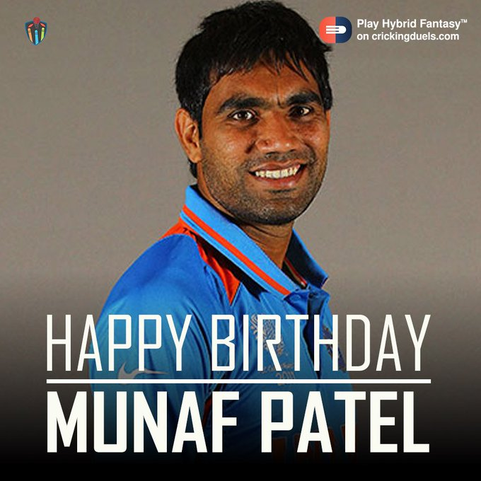 Happy Birthday Munaf Patel. The Indian cricketer turns 34 today.