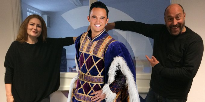 Happy Birthday to GARETH GATES! Here he is with us, dressed as Henry VIII. (Gareth, not us)