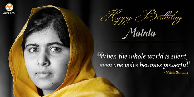 Team wishes Malala Yousafzai a very Happy Birthday!
