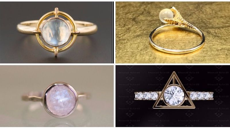 Twenty amazing Harry Potter-inspired engagement rings