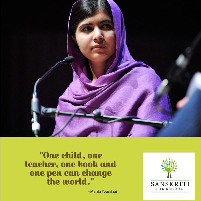 We wish the brave survivor Malala Yousafzai a very happy birthday. We stand behind you and your vision, Malala!