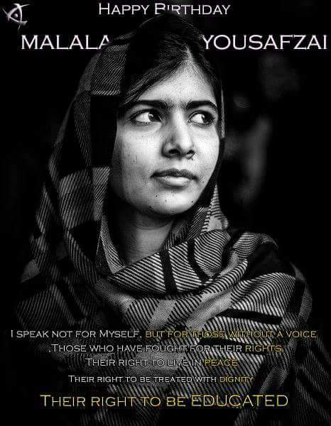Indeed Pen is mightier than Sword.Happy Birthday Malala Yousafzai.