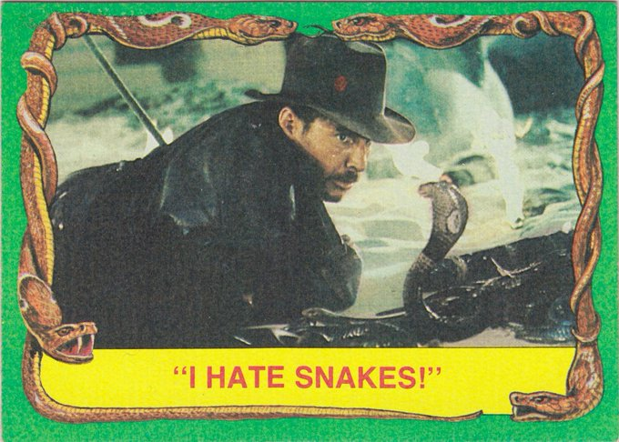 Happy 75th Birthday Harrison Ford! I actually like snakes! I think they\re fantastic creatures.