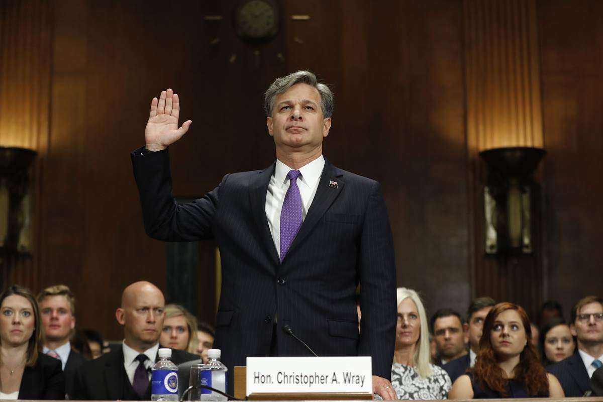 "Christopher Wray pledges ""independent"" FBI if confirmed to lead it"