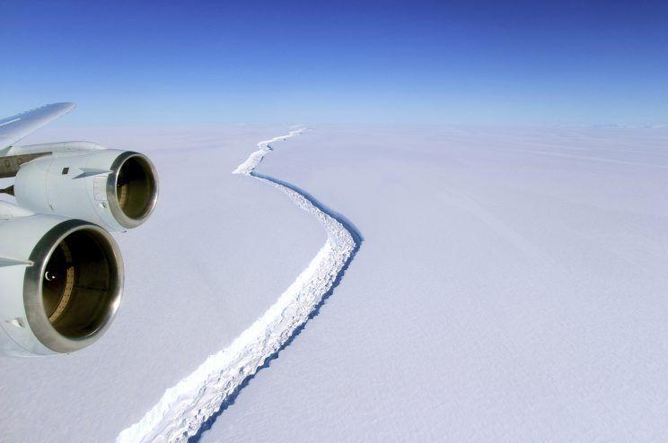Iceberg nearly twice the size of Rhode Island breaks off Antarctica