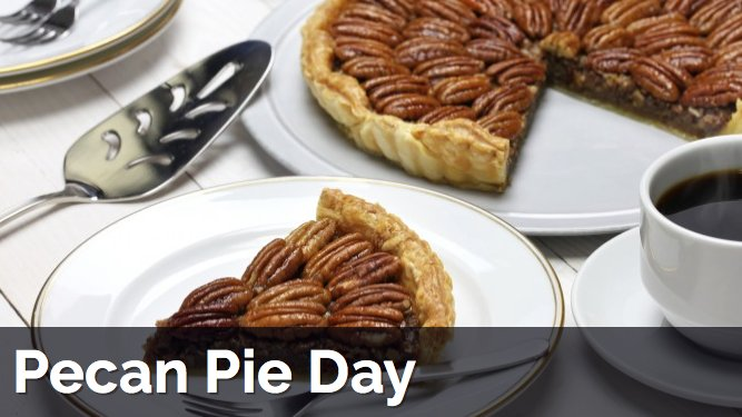 Today is international Pecan Pie Day...It would be rude not too!!! https://t.co/sMz5vQN2OH