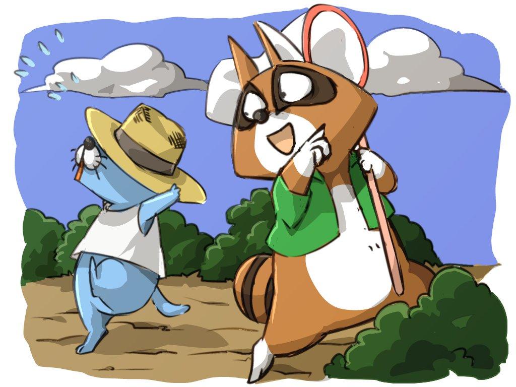 ぼのぼの:虫取りに連れて行くアライグマくん