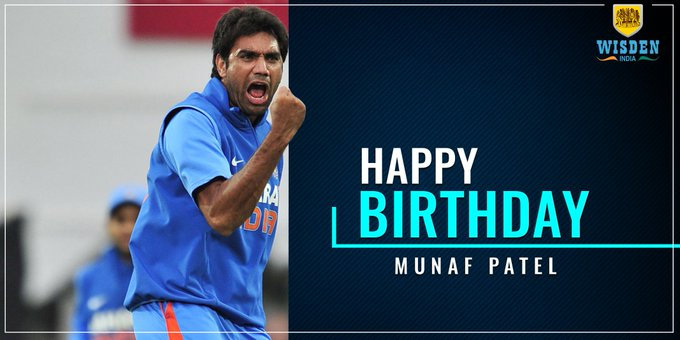 Happy Birthday to Indian pacer and 2011 winner Munaf Patel.