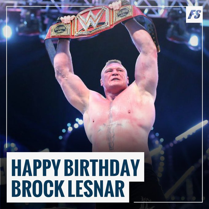 Happy Birthday to Universal Champion Brock Lesnar!
