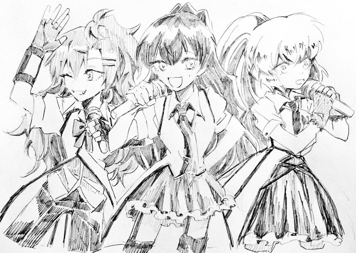 リクエストありがとうございました寒河江と武智、番場の3人組アイドルグループ(悪魔のリドル)です