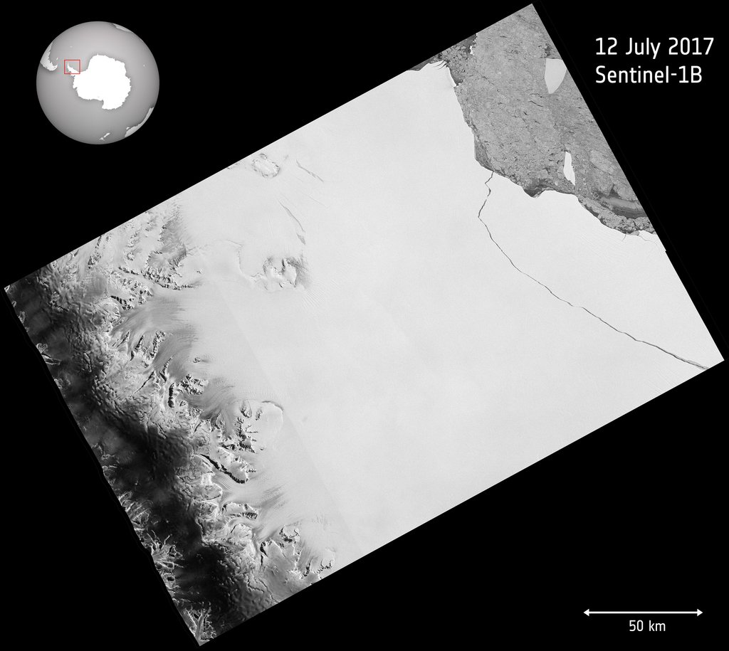 One of the biggest icebergs in recorded history just broke loose from Antarctica