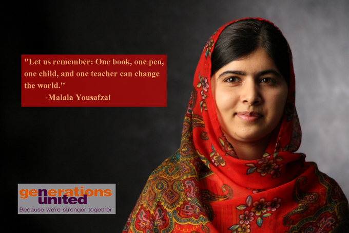 Happy 20th birthday to (Malala Yousafzai), a super example of activism across the ages.