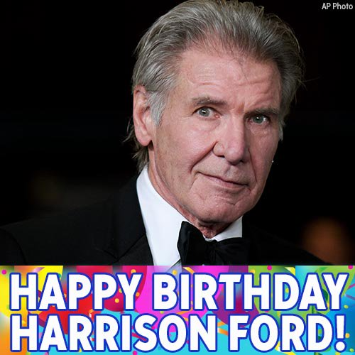 A very special happy birthday to Han Solo actor, Harrison Ford!!!