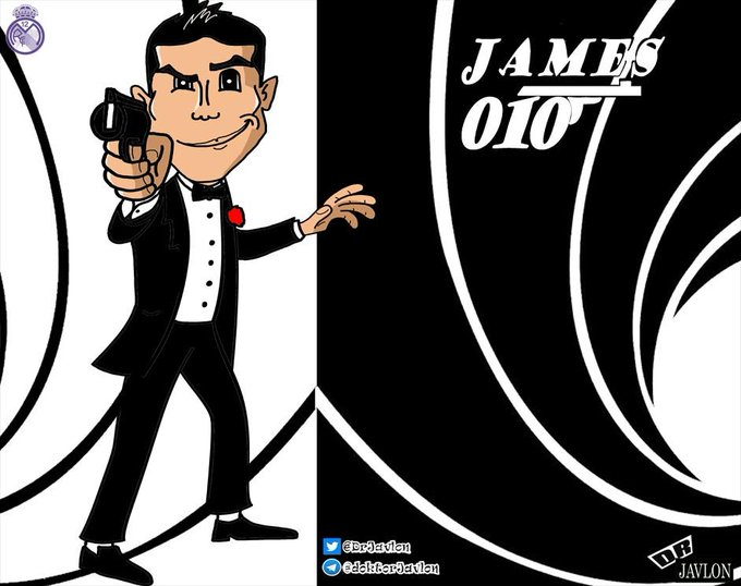 ": ""happy birthday James Rodriguez\""            \""i am Bond,James Rodriguez\"""