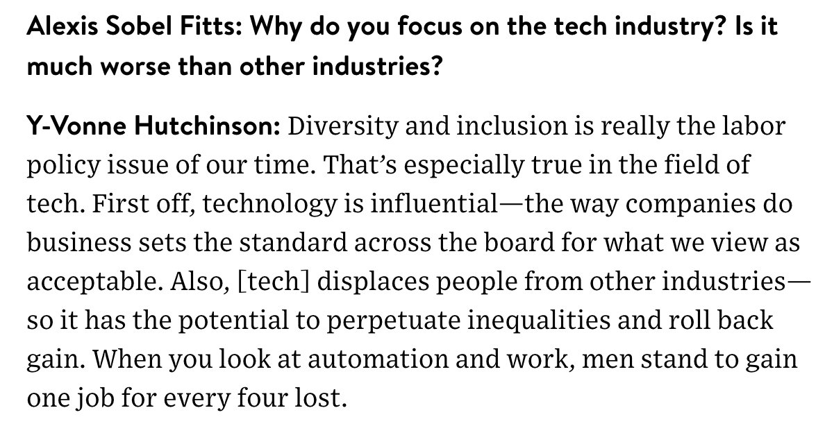 .@hutchamachutch: diversity and inclusion is the labor policy issue of our time https://t.co/NbNxHSD11V https://t.co/8kI1RBaL0b