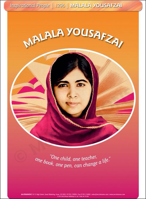 Happy Birthday to Malala Yousafzai, youngest Nobel Laureate, who celebrates her 20th birthday today!!