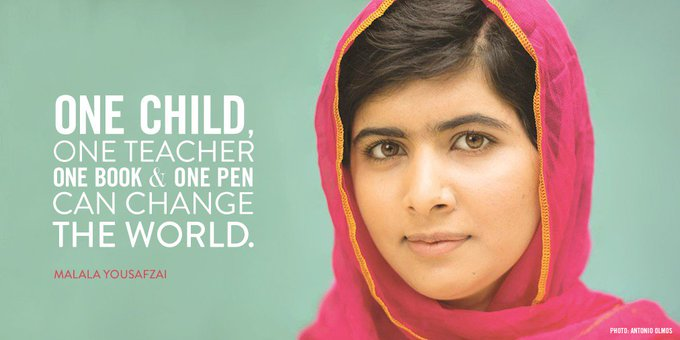 Happy Birthday to  MALALA YOUSAFZAI!  My special hero and an inspiration to girls & women everywhere.