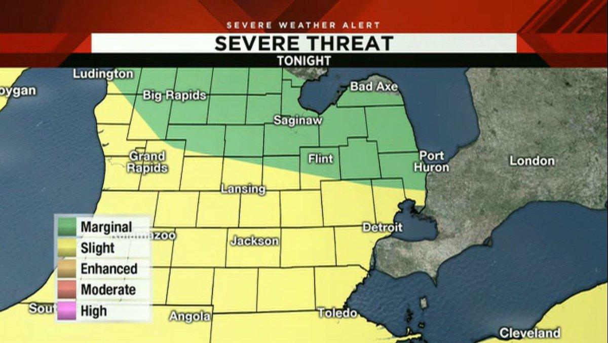 SE Michigan severe weather forecast: Flash flooding, damaging winds possible