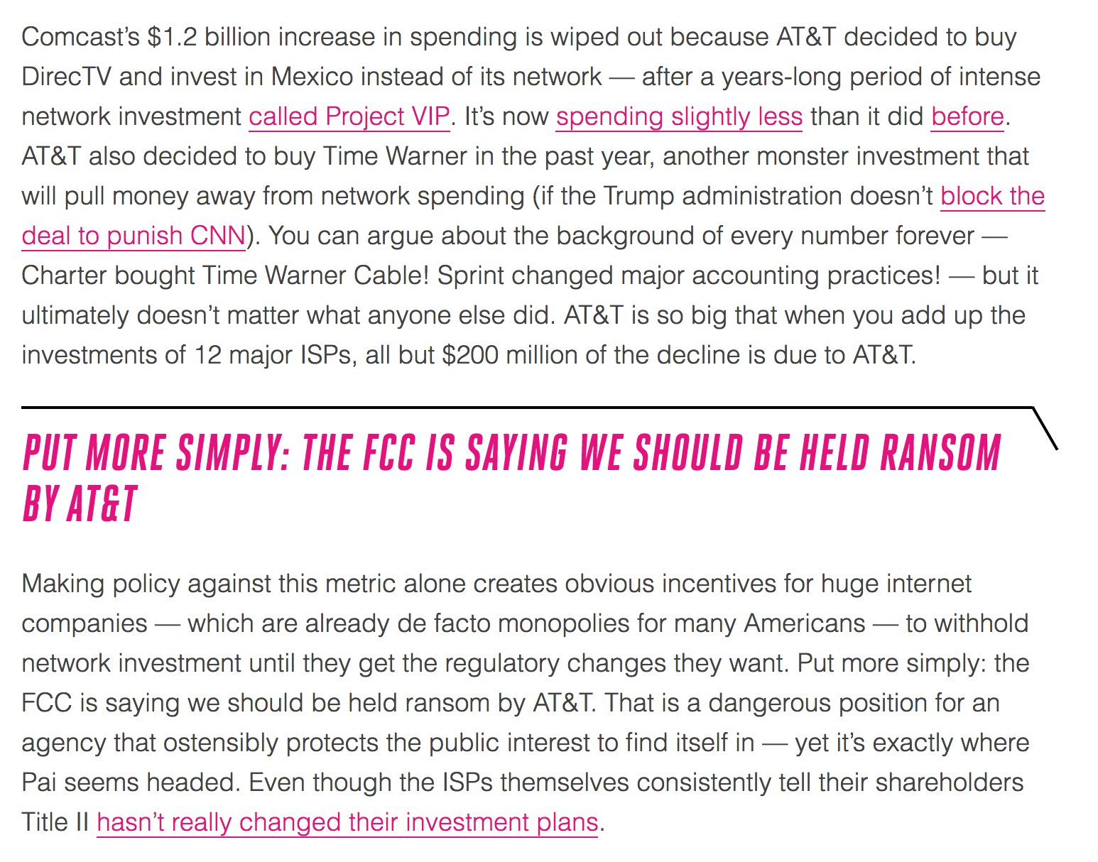 The FCC's anti-net-neutrality argument boils down to letting AT&T set US internet policy. https://t.co/SBquQH8c6B https://t.co/r7cg7SK39T