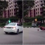Motorcyclist injured after colliding with car at Woodlands junction