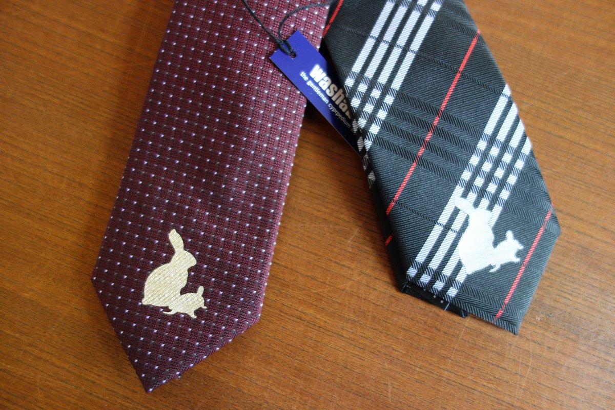 【ネクタイ×うさかめ】うさかめネクタイが追加入荷いたしました。うさぎとかめのメタリイフワンポイントが入ったうさかめネクタ