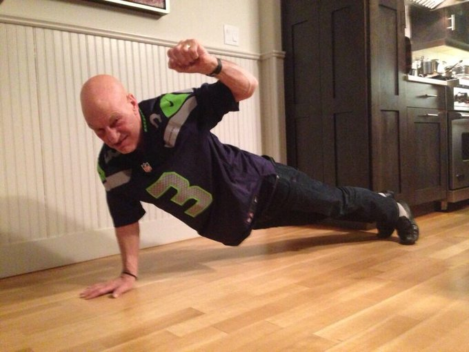 Oh, and a happy 77th birthday to this living legend! Love you Sir Patrick Stewart... Never change.