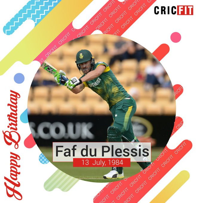Cricfit Wishes Faf du Plessis a Very Happy Birthday!