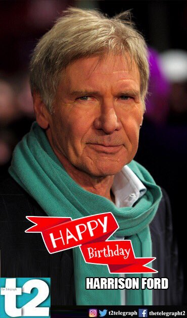 Happy birthday to the mighty Harrison Ford! May the force be with you!