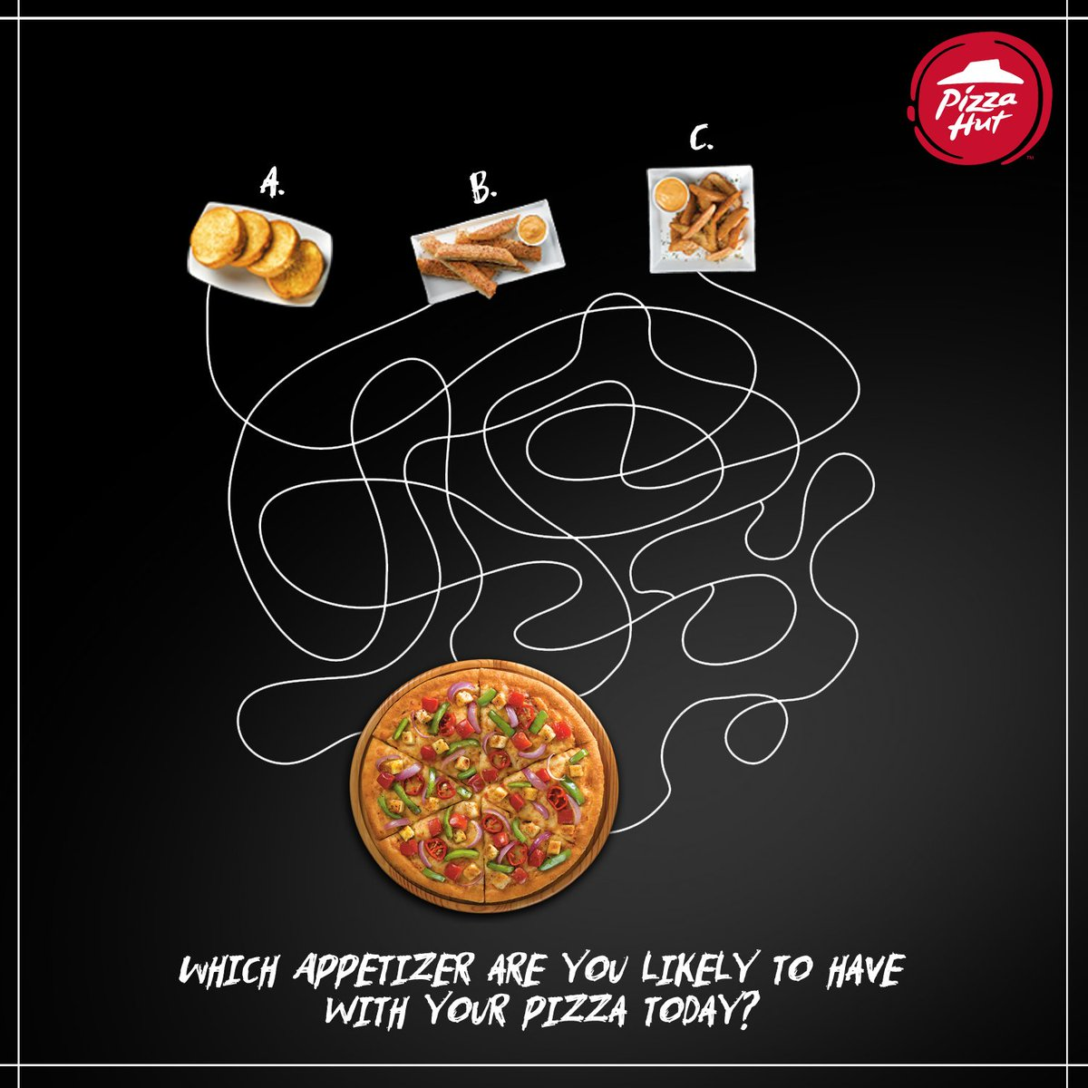 Which appetizer string is leading to pizza Take a guess. ThinkPizzaThinkPizzaHut https t.co IGL2daVxsc