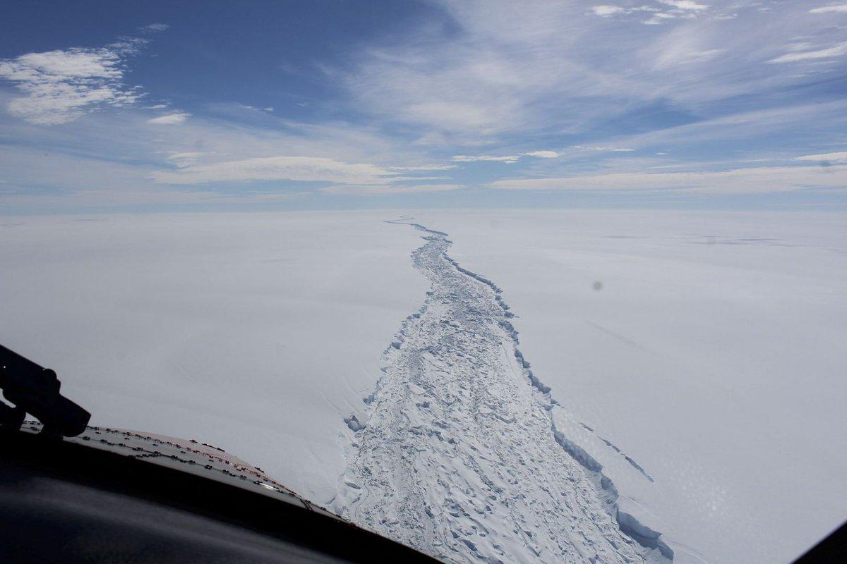 A huge iceberg breaks free in ever-shrinking Antarctica