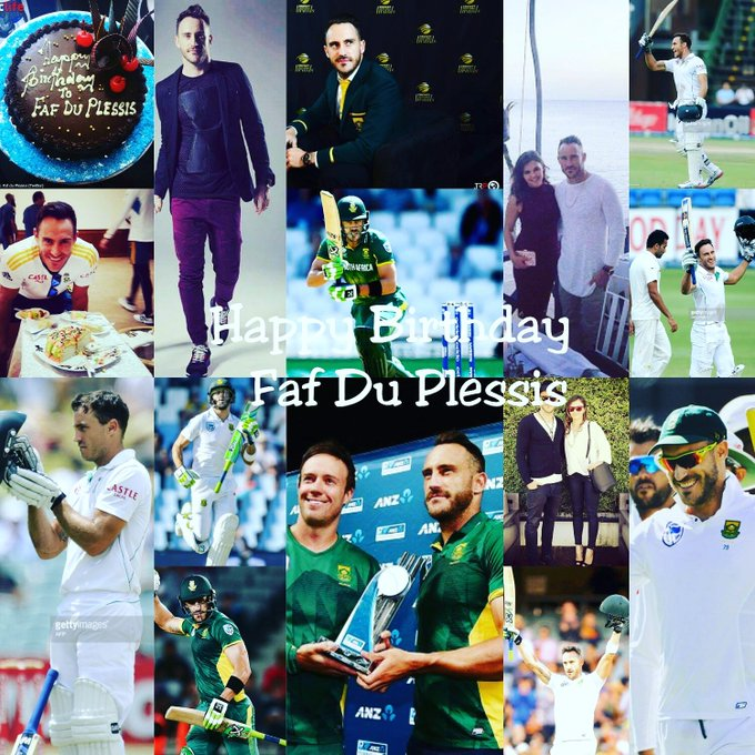 Happy birthday my cricket super hero cool captain south Africa faf du Plessis.