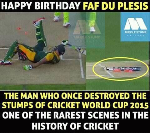 Happy birthday Faf Du Plessis south africa