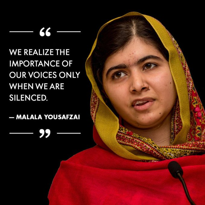 Happy birthday   Hoy Malala Yousafzai cumple 20 años