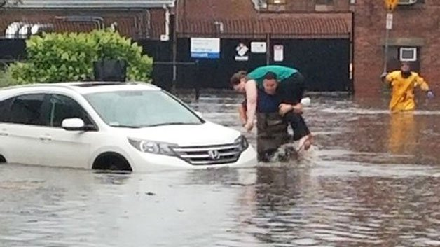 Flash Flooding Strands Drivers In Boston Area
