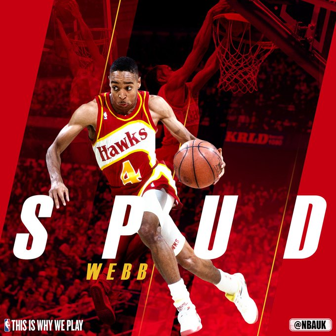 Join us as we wish the 1986 Slam Dunk Champion Spud Webb, a very happy birthday!