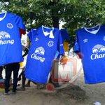 Football fans buy Everton jerseys 'like crazy'