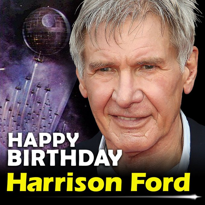 Happy birthday to Harrison Ford! The actor turns 75 today