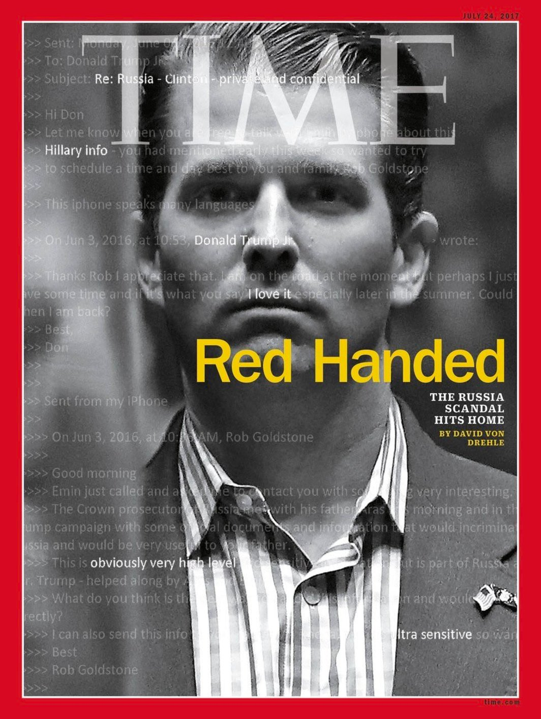 Aww, Junior's first @Time cover, Donald must be so proud. https://t.co/dg0vgGLxPX