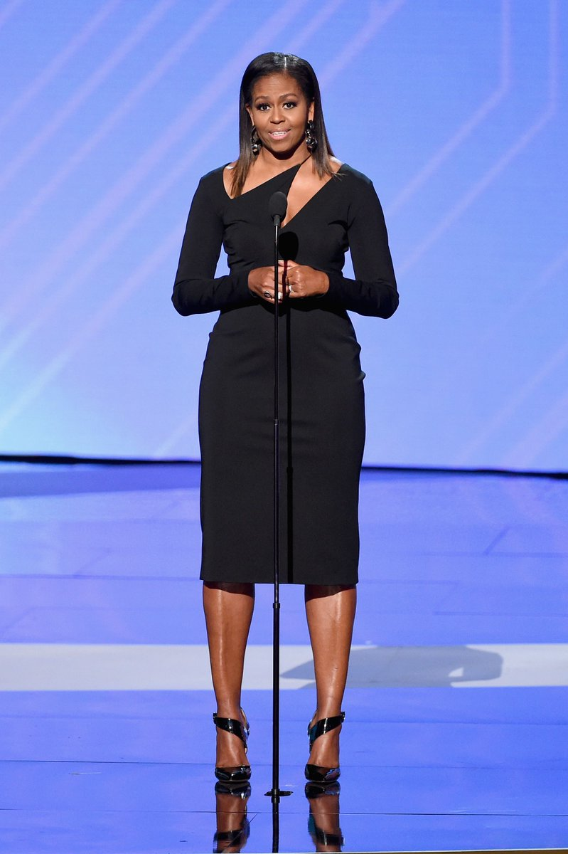 Civilian life looks pretty good on Michelle Obama. (Photo: Getty Images)