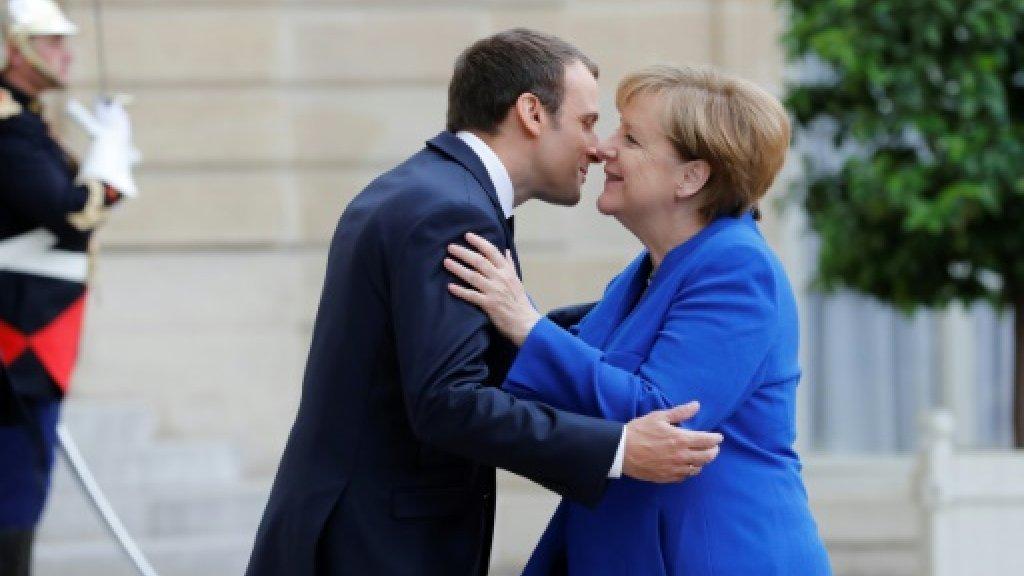 Merkel, Macron put defence at heart of blooming ties